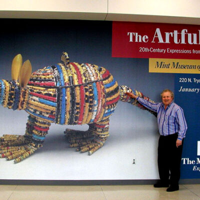The Artful Teapot installation Charlotte Douglas Airport