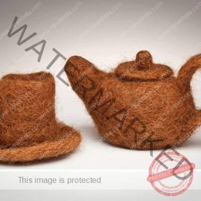 Annin Barrett (American, b. 1953) Hair Teapot and Cup