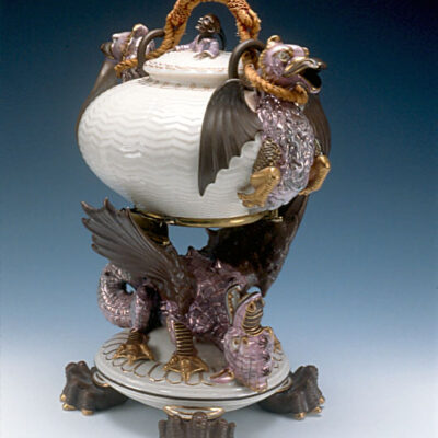 Belleek Porcelain Factory (Ireland) Dragon Kettle