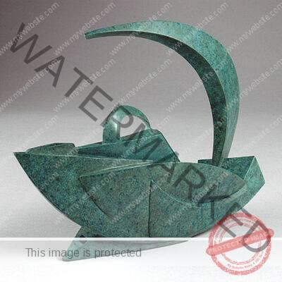 Darlys Ewoldt (American, b. 1955) Bird Teapot