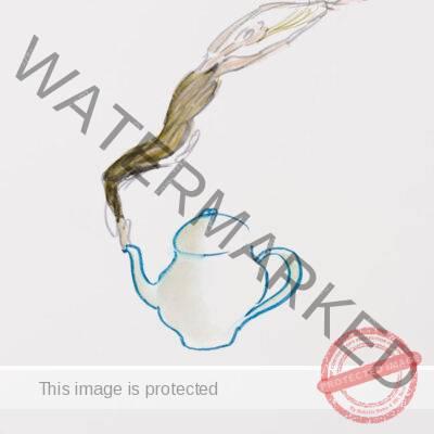 Jules Ralph Feiffer (American, b. 1929) Kamm Family Teapot Drawing