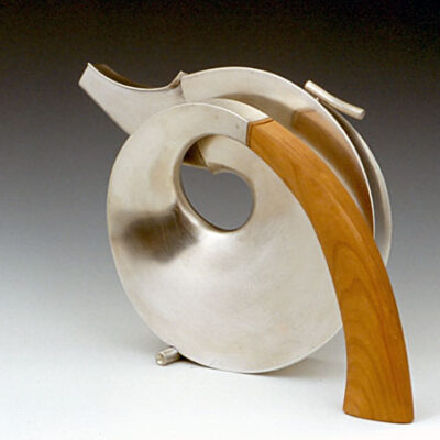 Michael Jerry (American, b. 1937) Spiral Teapot II