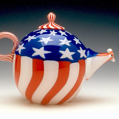 Richard Marquis (American, b. 1945) Retro Stuff : Stars and Stripes Teapot