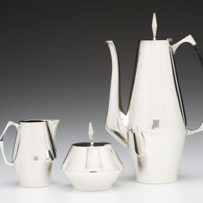 John Prip (American, 1922-2009)/ Reed & Barton (USA) Diamond Coffee Set