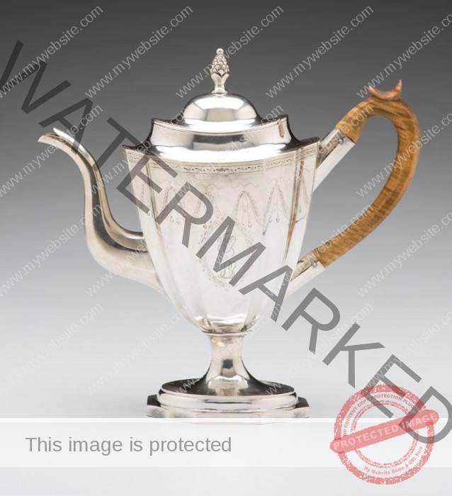 attrib. to Paul Revere (American) William Goddard Teapot