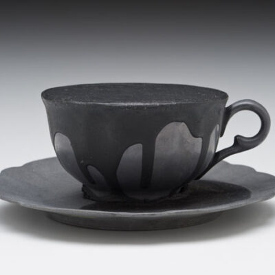 Donald Sultan (American, b. 1951) Lead Tea Cup with Tar 1989