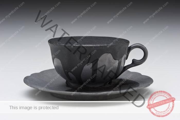 Donald Sultan (American, b. 1951) Lead Tea Cup with Tar 1989