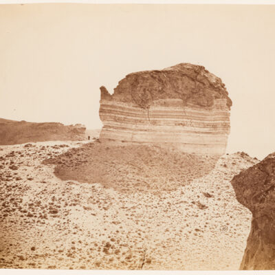 "William Henry Jackson (American, 1843-1942) ""Tea-Pot Rock, near Green River Station, Wy."" 1869 albumen print from glass plate negative. 6.75 x 9"" 1997.76"