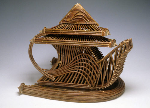 Kimberly Sotelo (American). Willow Teapot, 1999. Willow, 22.5 x 27.5 x 20.5 inches. Kamm Collection 1999.55.2