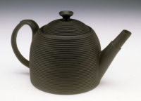 Unknown maker (England). Beehive-Shaped Black Basalt Teapot, 1800. Stoneware. Kamm Collection 1994.2.5