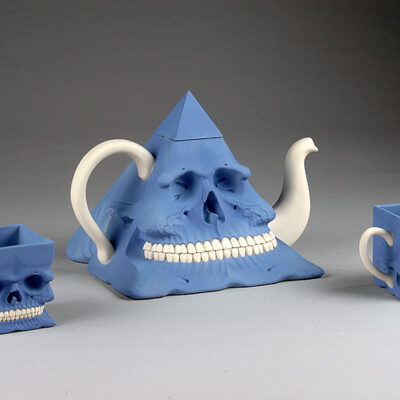 Richard Notkin, ceramic, Skull Tea Set, Wedgwood