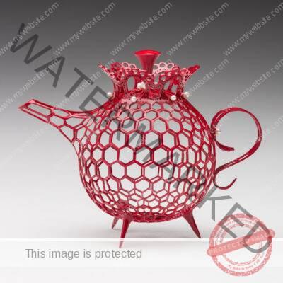 Malcolm Zander Pearl Gray Teapot