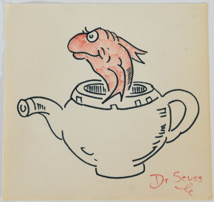 Dr. Seuss Goldfish in Teapot