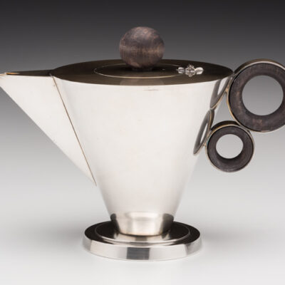 Grete Marks silver-plated teapot