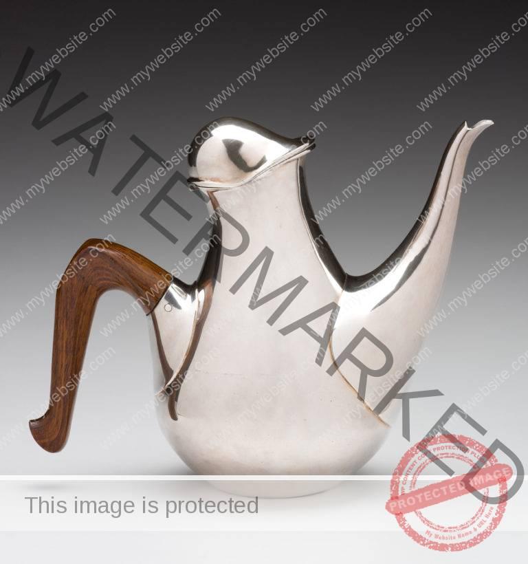 Paley silver teapot