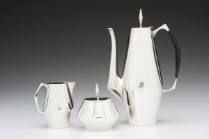 "John Prip (American, 1922-2009)/ Reed & Barton (USA) ""Diamond Coffee Set"""