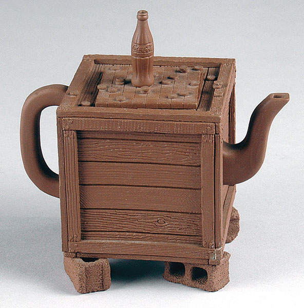 "Richard Notkin (American, b. 1948) ""Teapot from Yixing Series"" 1985 stoneware. 4.75 x 4.75 x 3.25"" Photo: Tom Macdonald, courtesy of Bonham Auctions. 2007.61.2"