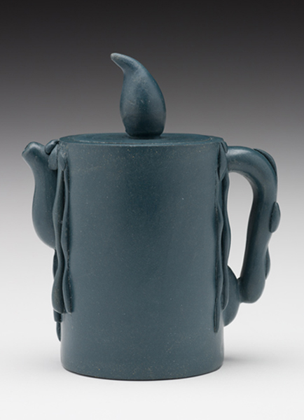 "(Yixing Province, China) ""Candle Teapot"" 1990 stoneware 5 x 4.25 x 2.5"" Photo: David H. Ramsey. 1999.60.45"