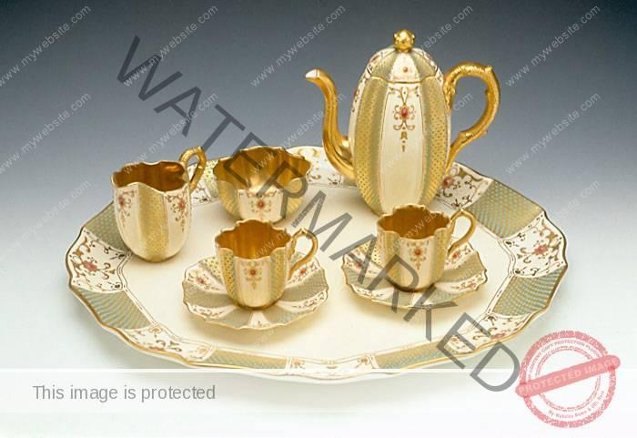 Coalport Jeweled Tea Set