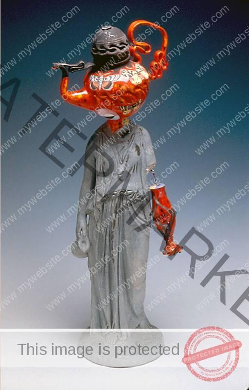 Michael Lucero Female Roman Statue Kamm Teapot Foundation