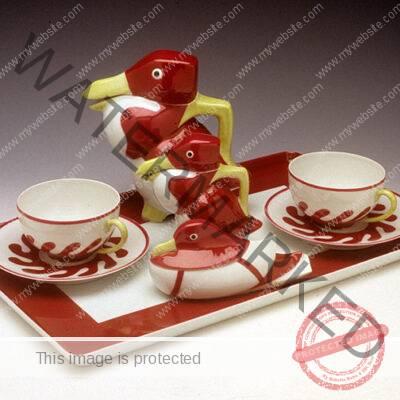 Édouard-Marcel Sandoz / Theodore Haviland, Limoges. Bird Tea Set