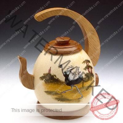 ostrich egg teapot