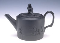 Josiah Wedgwood & Co. (England). Black Basalt Teapot with Infants Playing, ca. 1790. Stoneware. Kamm Collection 1994.2.6