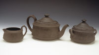Josiah Wedgwood & Co. (England). Black Basaltes Tea Set, ca. 1820. Stoneware. Kamm Collection 1996.76