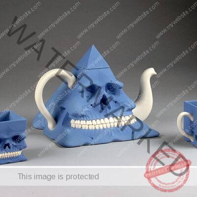 Richard Notkin, ceramic, Skull Tea Set, Wedgwood