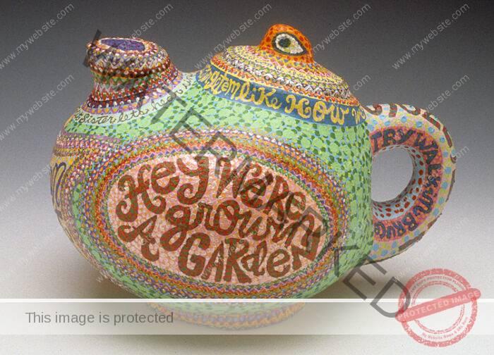 Bruce Burris Painted Teapot
