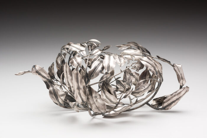 Whitney Couch silver leaves teapot