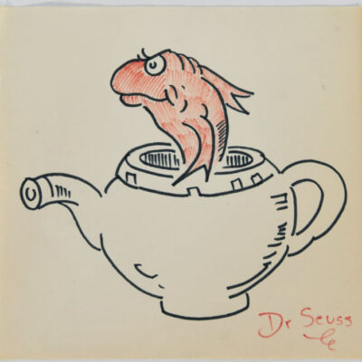 Dr. Seuss Goldfish in Teapot
