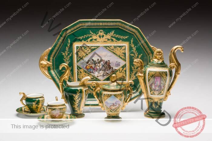 Sevres Napoleon Tea Set