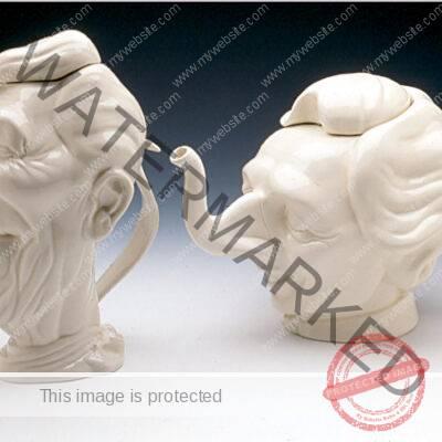 Luck & Flaw, Ronald Reagan Teapot, Margaret Thatcher Teapot