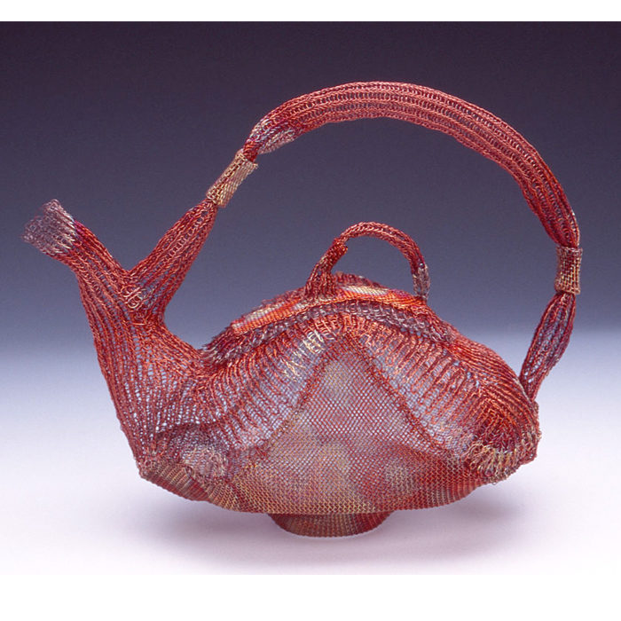 Marilyn Moore Blanche Dew Bwa 1999 knitted copper wire, copper screen