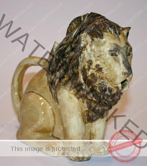 Staffordshire Lion Teapot