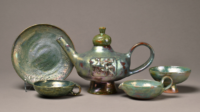 Beatrice Wood, Tea Set, ca. 1960.