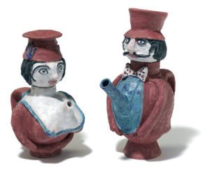 Beatrice Wood, Teapot Couple 1989.
