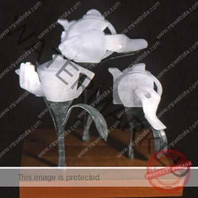 Steve Linn, glass sculpture