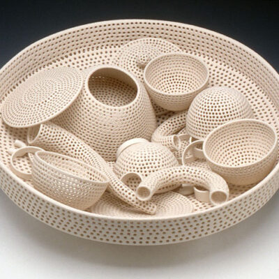 Tony Marsh, Perforated Vessel (Tea Set)