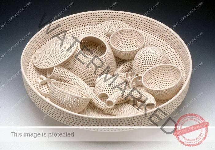 Tony Marsh, Perforated Vessel (Tea Set)