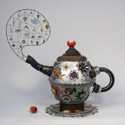 Michelle Stitzlein, Rust Tea Pot.