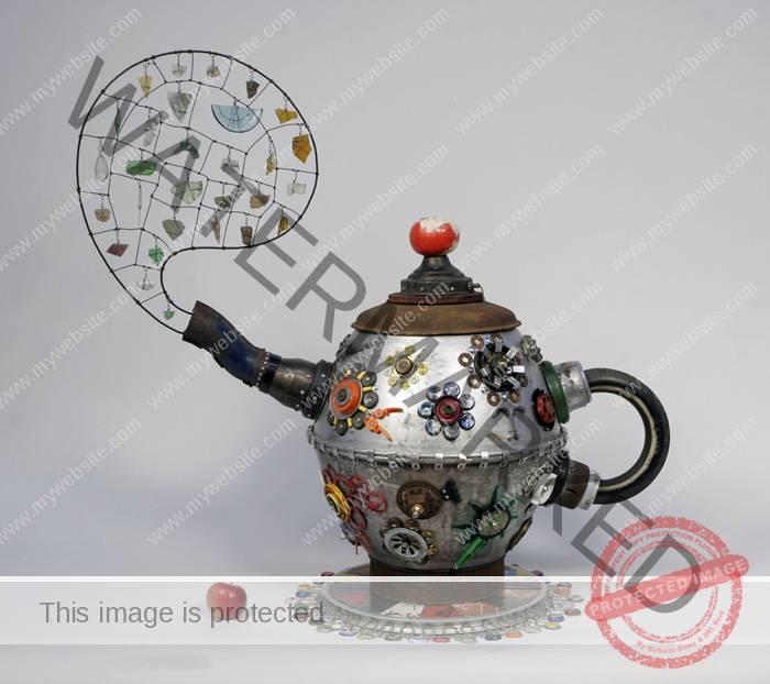 Michelle Stitzlein, Rust Tea Pot.
