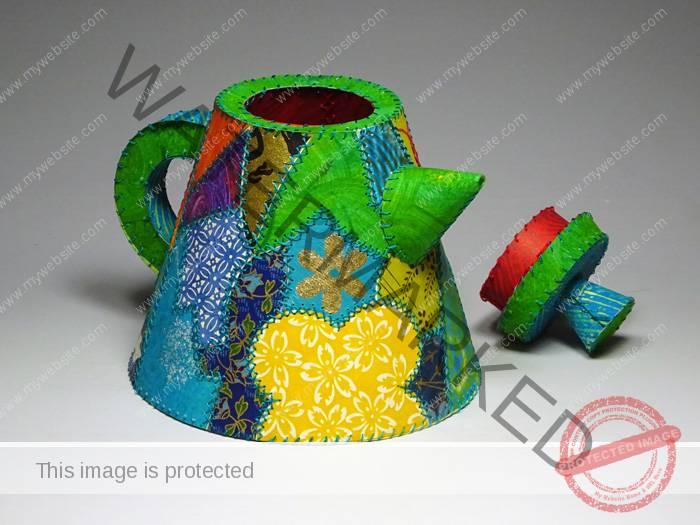 """Karen Krieger """"Crazy Quilt Teapot"""""""