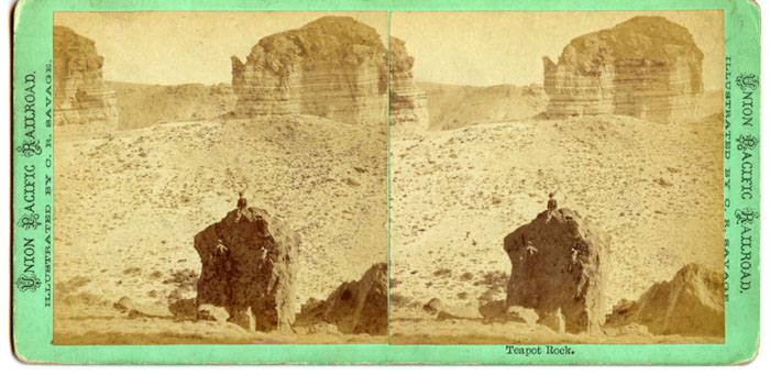 C. R. Savage, Teapot Rock stereograph