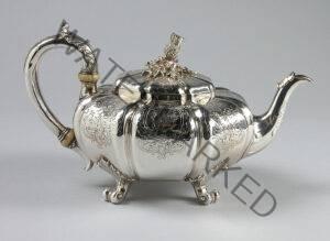 Paul Storr silver teapot.