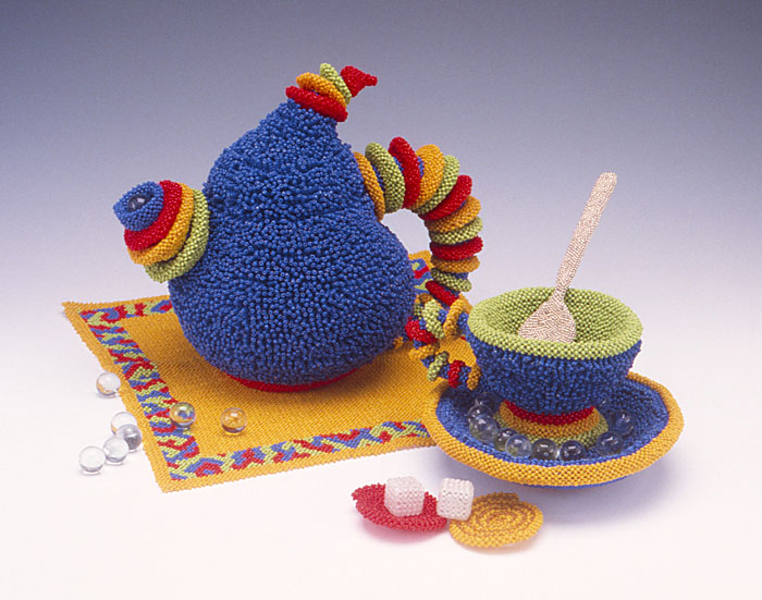 David Chatt Beaded Tea Set