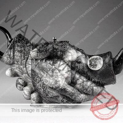 David Regan Hands Teapot