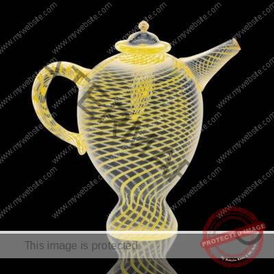 Tagliapietra, glass teapot